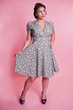 a2a29c677c Millie Dress - 40 s Floral Black
