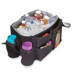 For Serious Road Warriors . . . a Minicooler: This isn't essential if your car trips are limited to errands around town, but when you're planning a lengthy road trip, this combo organizer and cooler ($33) will keep bottles and snacks cool and accessible for hours.
