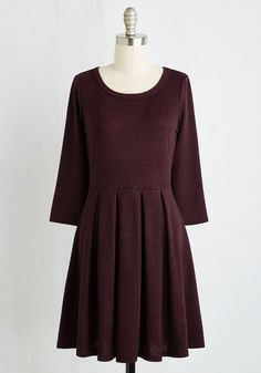 Soft Spot Dress. Before long, youll have a special place in your heart for this lightweight sweater dress! #red #modcloth