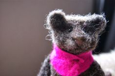 Felt and Found. Raul, the brown lion cub with a passion for pink.