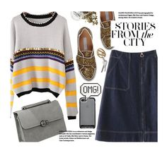 """""""Preppy"""" by beebeely-look ❤ liked on Polyvore featuring L'Autre Chose, Anya Hindmarch, casual, Sweater, preppy, denimskirt and twinkledeals"""