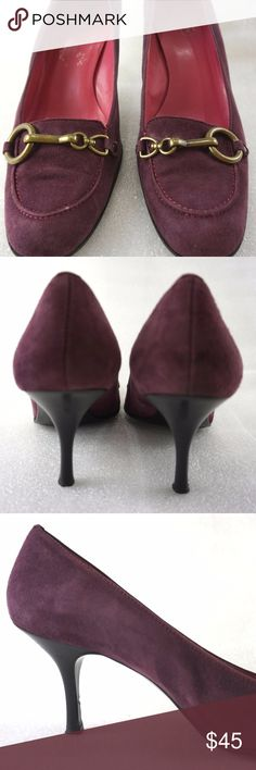 db3cb8067bc3 Coach Aubry Shoes Heels Suede 9.5B Purple Womens Coach suede pumps for  sale. These