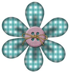 Granny Enchanted's Paper Directory: Free Teal Plaid Joseph Strawberry Coco Digi Scrapbook Flower from Kit 40