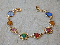 Heart bracelet, Colorful bracelet. Swarovski #jewelry #bracelet @EtsyMktgTool #happyjewelry #jewelrygift #happybracelet #gemstonebracelet