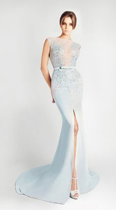 Georges Hobeika Spring Summer 2013 Ready to Wear, if this was green , I would think of poison ivy :P