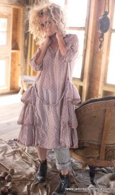 Magnolia Pearl www.de/shop - The Best Lace Dress Trends for 2019 Shabby Chic Outfits, Ropa Shabby Chic, Hippie Chic Outfits, Shabby Chic Mode, Shabby Chic Style, Boho Outfits, Boho Chic, Fashion Outfits, Mode Hippie
