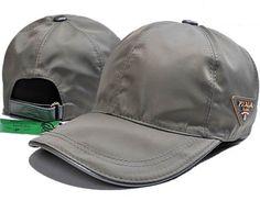 Prada Nylon Baseball Hat Grey 6edd4696001