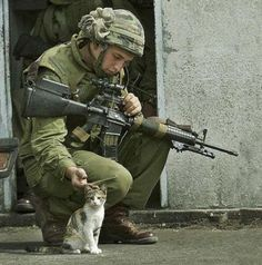 Army Kittens--what could be cuter than pictures of army men with kitties??