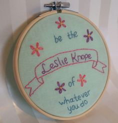 Leslie Knope Parks and Recreation Embroidery by TheBriBoutique