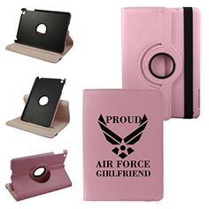 Atom Design On Ipad Air 2 Generation Leather Rotating Case 360 Degrees Multi-angle Vertical and Horizontal Stand with Strap (Pink) Air Force Girlfriend, Navy Mom, Ipad Stand, Ipad Air 2, Apple Ipad, Computer Accessories, Ipad Mini, Ipad Case, Unique Jewelry