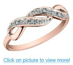 Infinity Diamond Promise Ring in 10K Rose Gold, Size 6.5