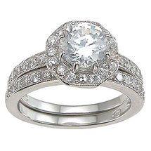 Walmart: Plutus Partners .925 Sterling Silver Brilliant Cut Cubic Zirconia Engagement Ring Set