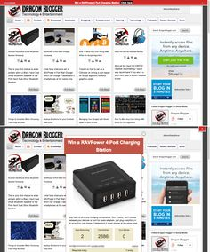 The PromoBar in action on DraggonBlogger.com