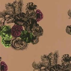 office wallpaper - love these colors Fornasetti Peonie 77/3008