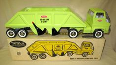 1960's Tonka COE LIME GREEN Bottom Dump Truck #2910 w/ Closed Box