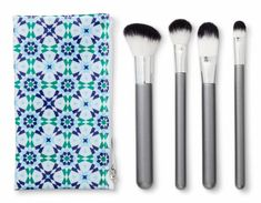 """Target-exclusive brand! Promising review: """"I love these brushes, what can I say?!?! They are soft, pick up product well, and don't shed! I find myself using this line of brushes over my high-end ones! I love the angled brush for contouring; it fits perfectly into the hollows of my cheeks! The concealer brush is amazing for blending in creamy concealers for a natural (yet covered) look. I use the setting brush in this set for highlighter, but it works great for both. This is a perfect set for…"""