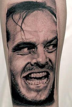 """Heres Johnny"" tattoo by Andrea Afferni"
