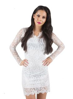 LACE DRESS WHITE Lace Dress, White Dress, Clothes For Women, Collection, Tops, Dresses, Fashion, Outerwear Women, Vestidos