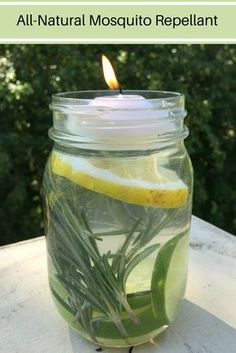 For an all-natural way to get mosquitos off the guest list at your next outdoor gathering, try this simple Mosquito Repellant Mason Jar.