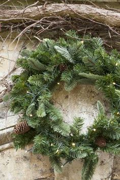 Stunning Pine Wreath for your door this Christmas. We sell the artificial version, which will stay looking fresh throughout the whole festive season.