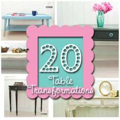 20 Beautiful Before and After Photos of Table Transformations by Prodigal Pieces featured on Home and Garden CraftGossip.com