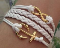 Cross bracelet Heart Bracelet Love anchor bracelet by SummerWishes
