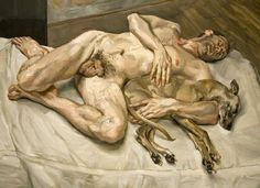 """Painting by Lucian Freud at the National Portrait Gallery. """"My work is purely autobiographical. It is about myself and my surroundings. Lucian Freud Portraits, Robert Rauschenberg, Edward Hopper, National Portrait Gallery, Art Moderne, Art Institute Of Chicago, Art Abstrait, Life Drawing, Pablo Picasso"""
