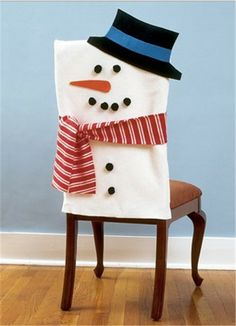 2013 Christmas cotton chair cover set, Christmas snowman cover with scarf and hat, Christmas home decor