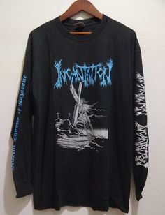 vintage 90s INCANTATION North American Tour 94 DEATH METAL Long Sleeve t-shirt #deathmetal #johnmcEntee