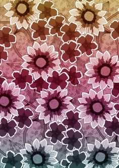 Flowers (colourful) by Lynette Sherrard Illustration And Design