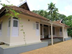 Ancestral home, Kerala, India. My dream home Kerala Traditional House, Traditional Homes, Kerala Architecture, Black And White Living Room, Kerala House Design, Kerala Houses, Adobe House, Indian Homes, House Entrance