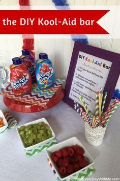 the DIY Kool-Aid Easy Mix bar #PourMoreFun #ad @walmart