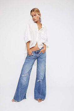 0d2dcb1b07 Johnnies Extreme Wide Leg Wide Leg Pants, Wide Jeans, Wide Leg Denim, High