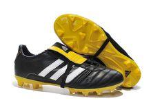 Latest Adidas FG Soccer Boots adiPURE TRX 2015 black yellow whit