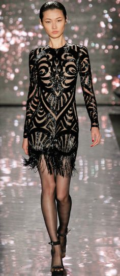 Naeem Khan, NYFW. #fashion sexy little black cocktail dress
