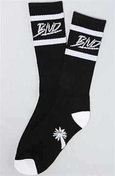 BLVD Supply The Stripe Socks Black