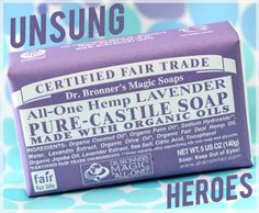 Dr. Bronner's  Magic Soap. This review just sold me on this product. I've seen it a million times but never tried. Karen says this is a great makeup brush cleaner! I am setting out to find the almond and the unscented baby-mild!