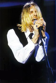 Kurt Cobain. You can see his passion for music in this picture.