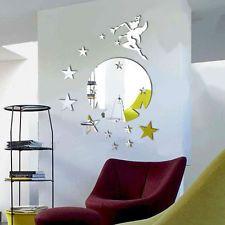 Fée miroir étoiles Decal Wall Art Sticker amovible Chambre Maison murale Decor