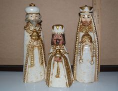 Vintage Wise Men  Three Kings  Nativity/Centerpiece by MaceSpace