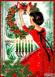 Christmas Photo, Old Christmas, Old Fashioned Christmas, Merry Little Christmas, Christmas Pictures, Christmas Greetings, Christmas Holidays, Merry Xmas, 1950s Christmas