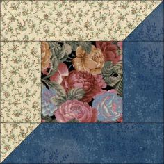 Flowers on Black Quilt Kit - 12 PRE-CUT Blocks