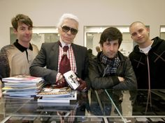 KARL LAGERFELD made a quick stop at COLETTE to buy new magazines