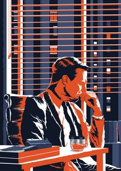 Fan Art by Faizal Rizal Mad Man Serie, Mad Men Poster, Rhapsody In Blue, Men Tv, Man Wallpaper, Pop Culture Art, Pulp Art, Cool Posters, Graphic