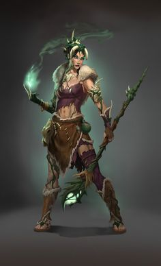 "Witch Concept, ""The Legend of Dead Kel"" Picture (2d, fantasy, concept art, witch, character, shaman)"
