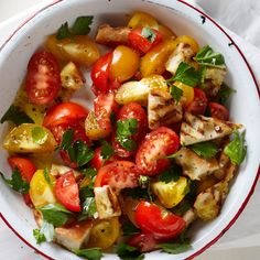 Looking for a salad that's a little different, but will also work well as a side for your barbecue? Try this panzanella! #PCSummer