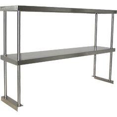 Stainless Steel Worktable Overshelf – Double Shelf
