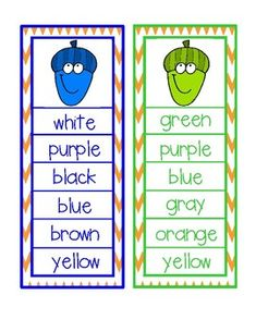 Fall Color Word Clip Activity by Sally Ellerbee Color Word Activities, Brown And Grey, Blue Grey, Green And Purple, Wedding Colors, Wedding Day, Wedding Inspiration, Wedding Photography, Adhd