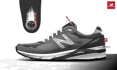 new balance 990 on Behance