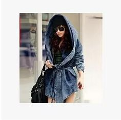 Josie hooded denim coat  #fashion #fashioninspiration #Womensfashion $69.99 https://alaganza.com